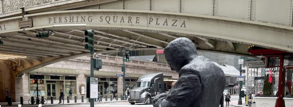 Pershing Square Plaza Welcomes New Life-Sized Sculptures