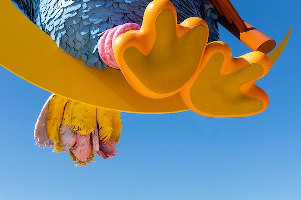 big bird statue met museum UES