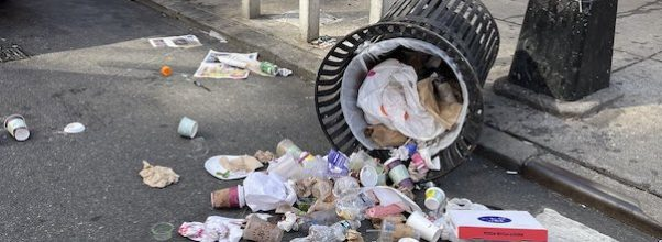 Man Continues Tipping Over Trash Cans on Lexington Avenue