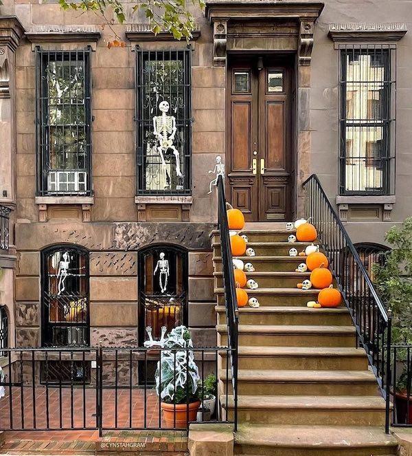 Upper East Side Halloween decorations